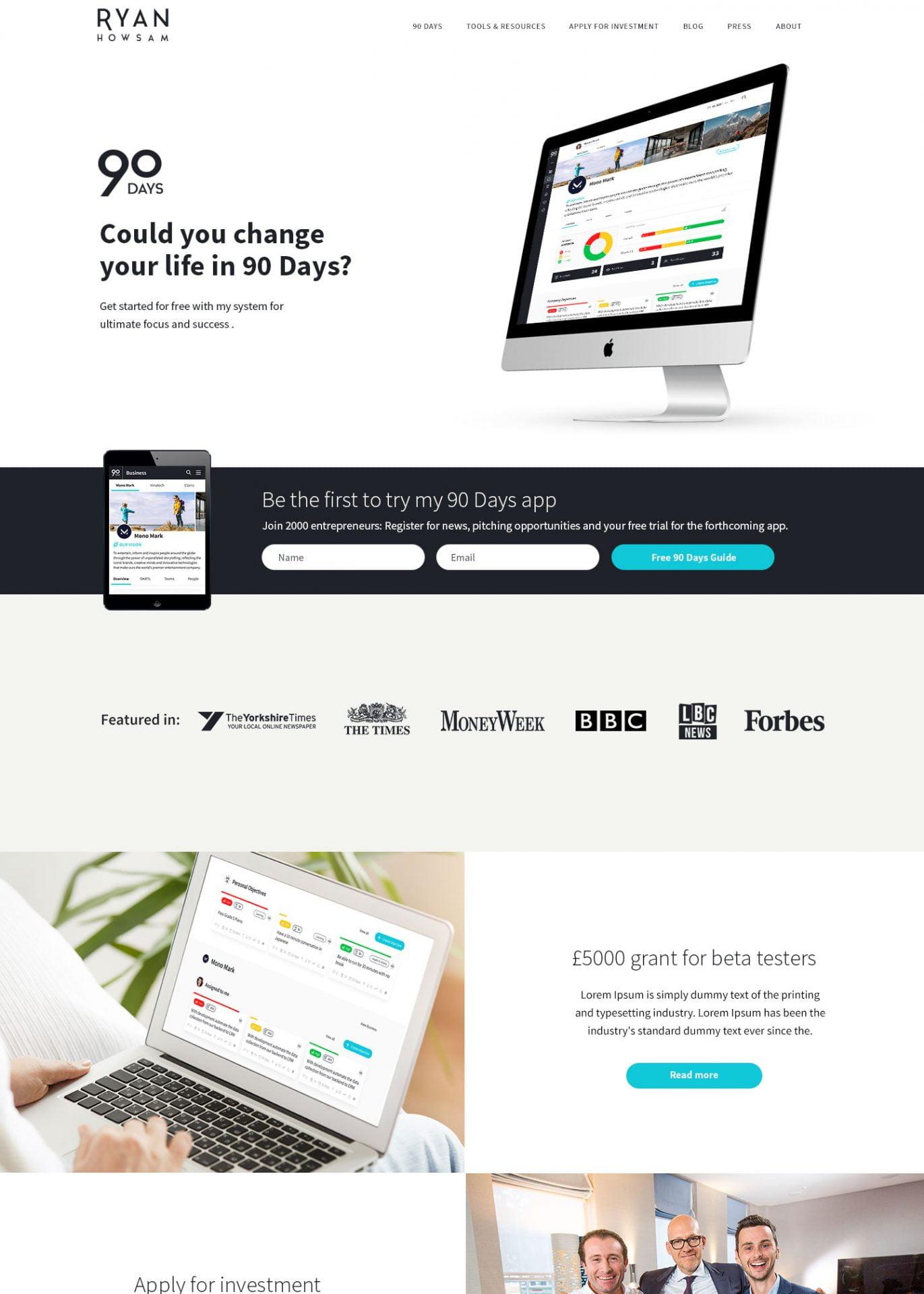 Ryan Howsam Personal Website Design