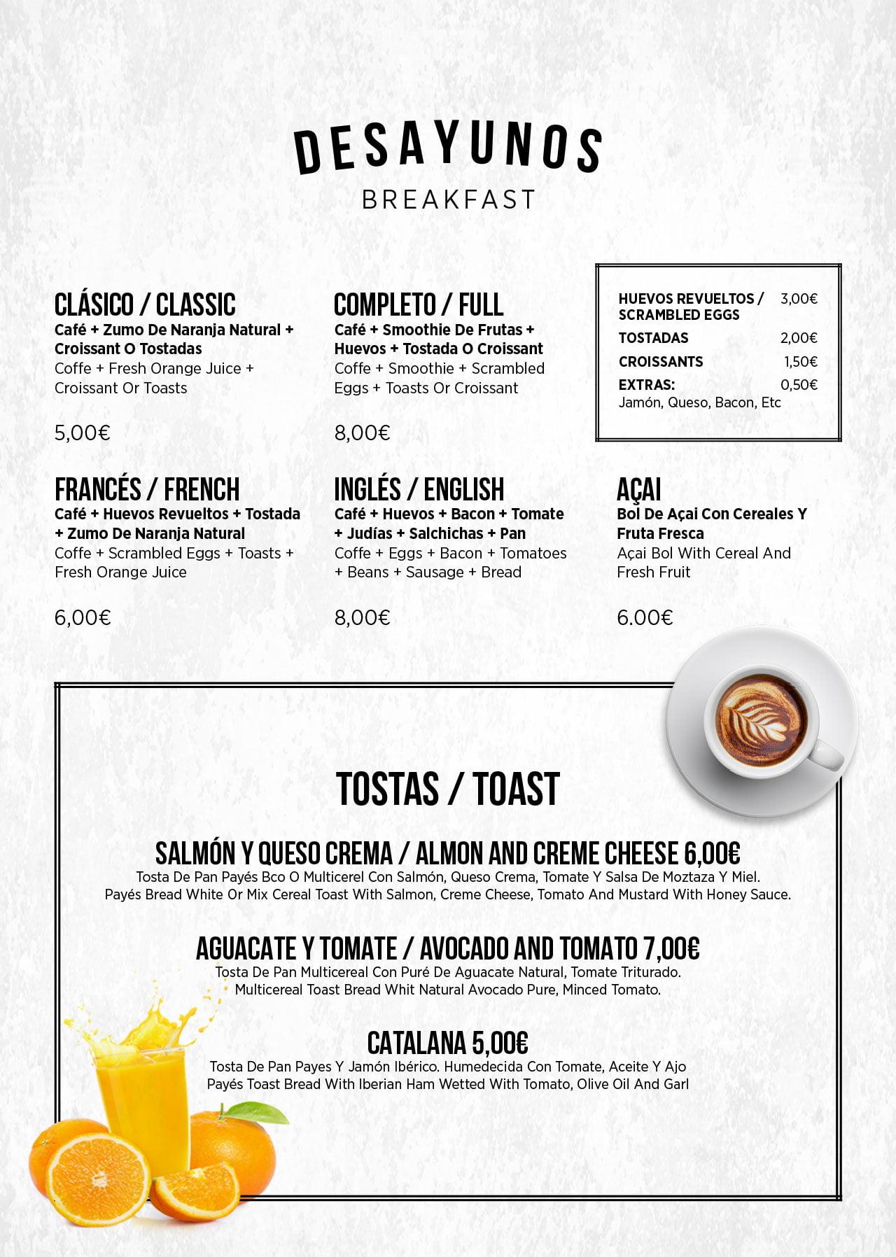 Breakfast Menu Template Design Blue Duck 2019