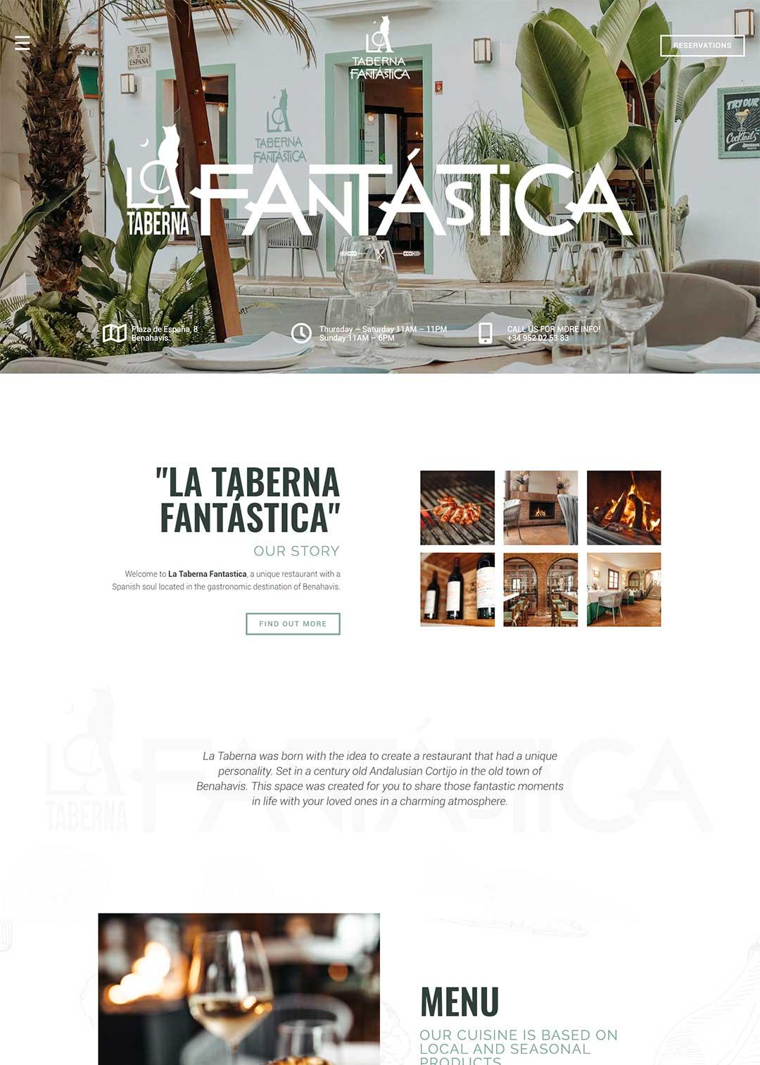 La Taberna Fantastica Restaurant Website Design