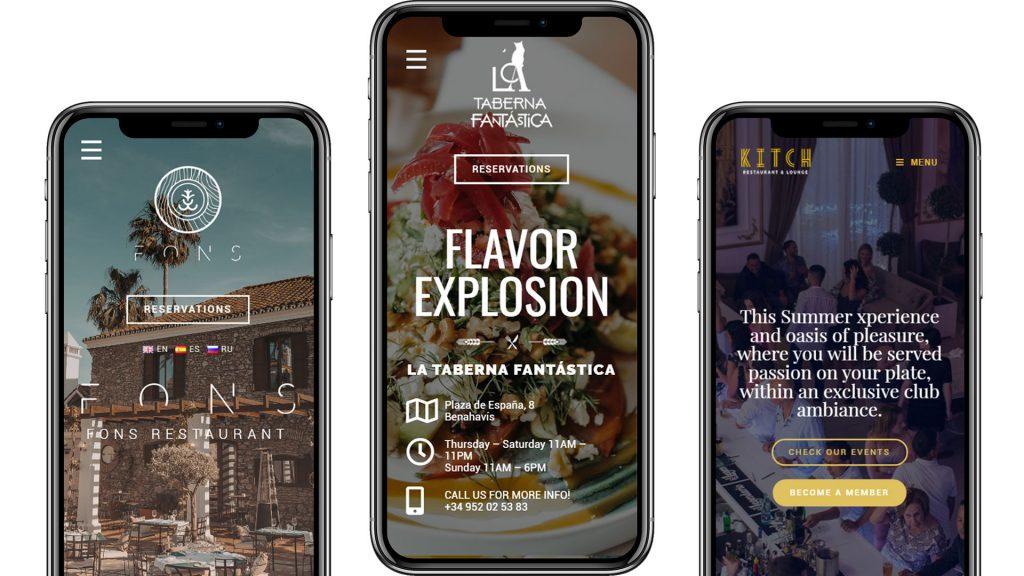 What We Do - responsive restaurant website design