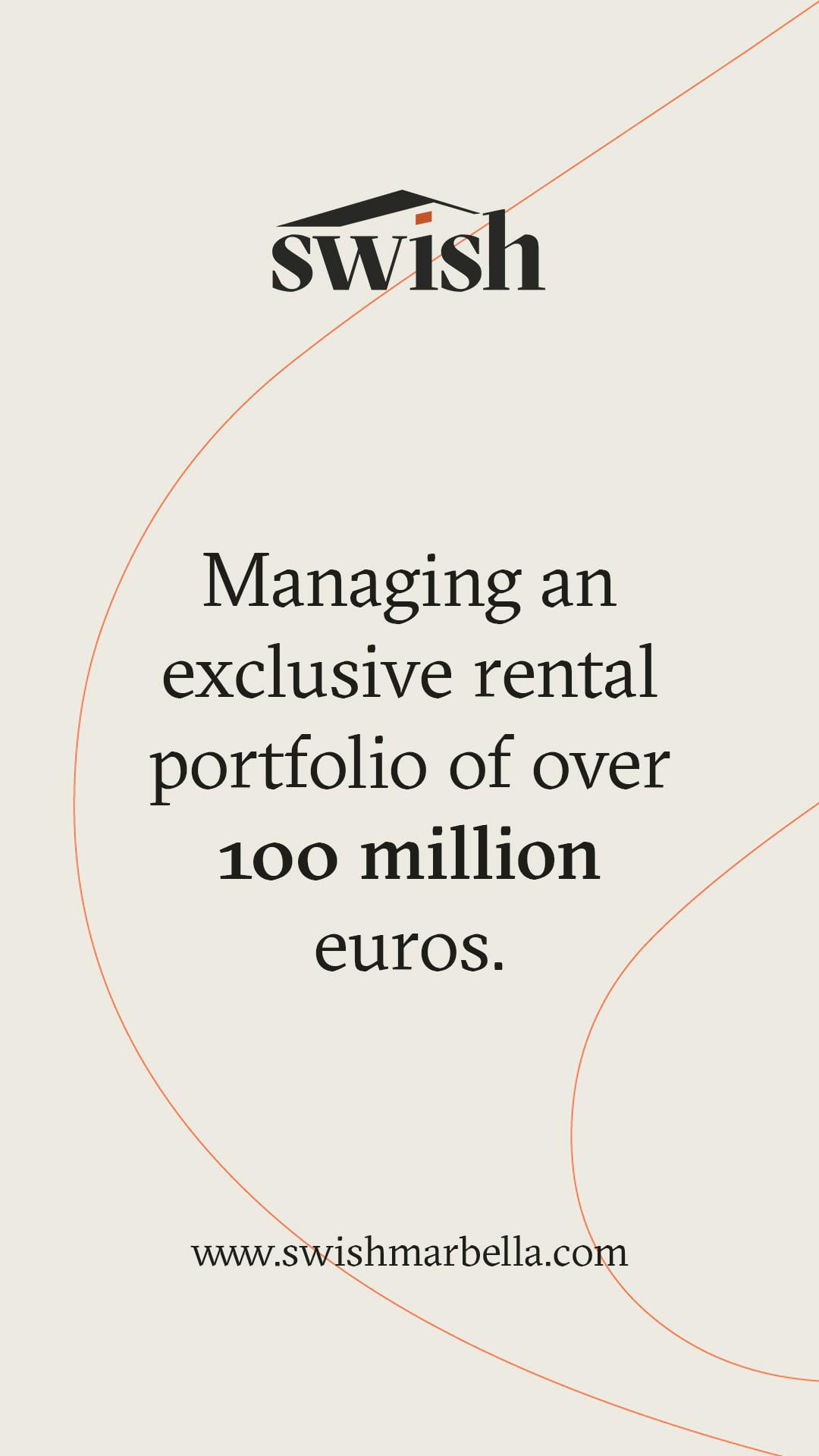 Managing an exclusive rental porfolio - Instagram Story post