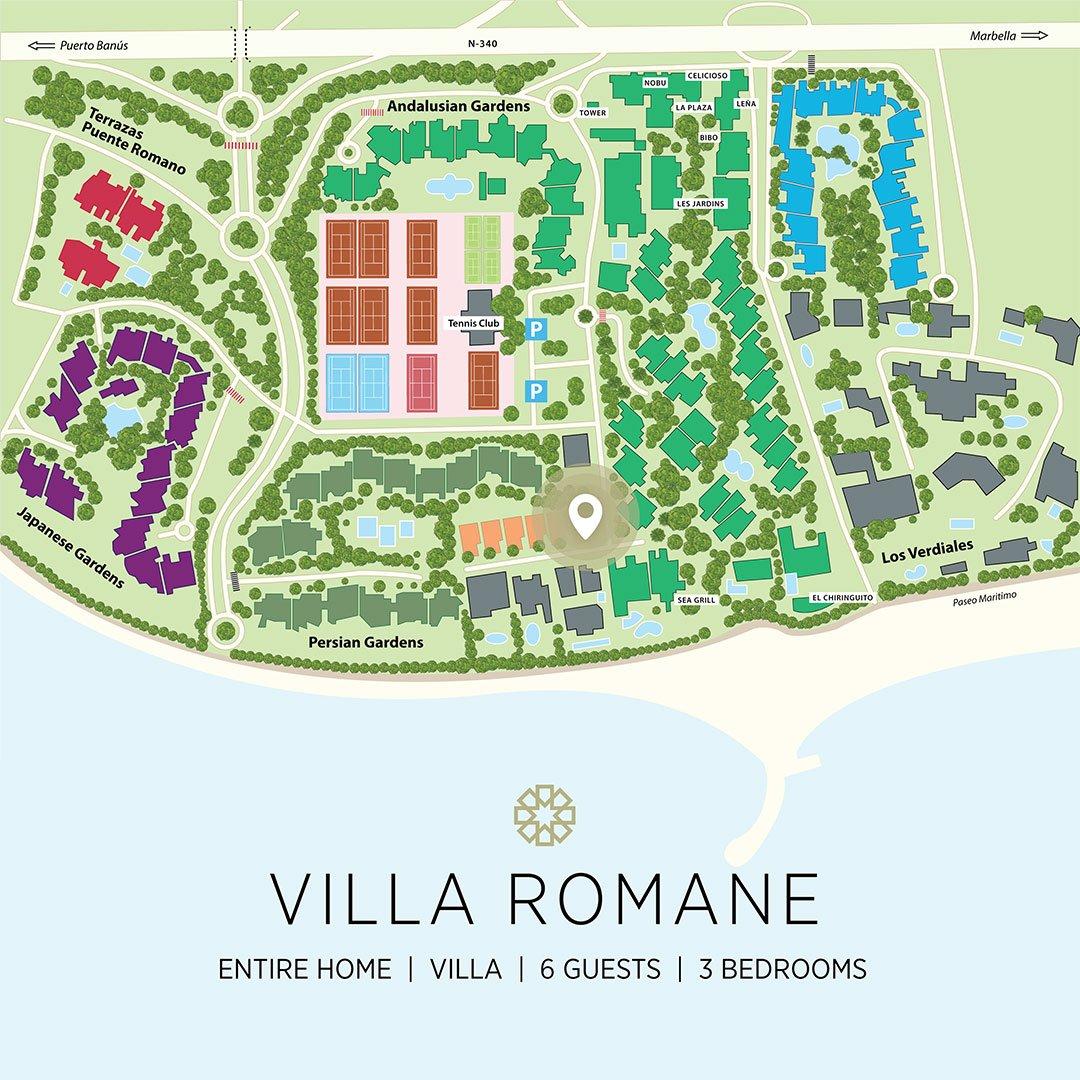 Puente Romano Map