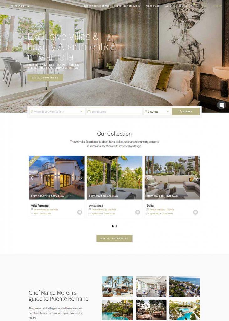Arimelia Website re-design template