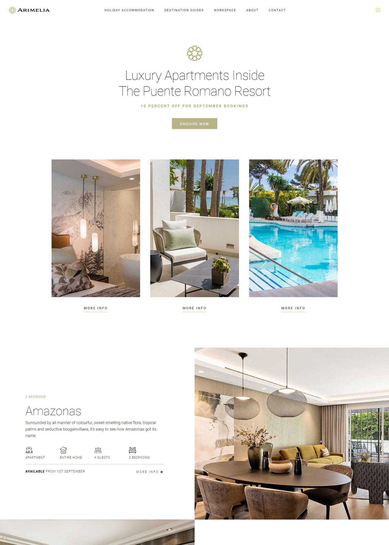 Clean Real Estate Landing Page Design